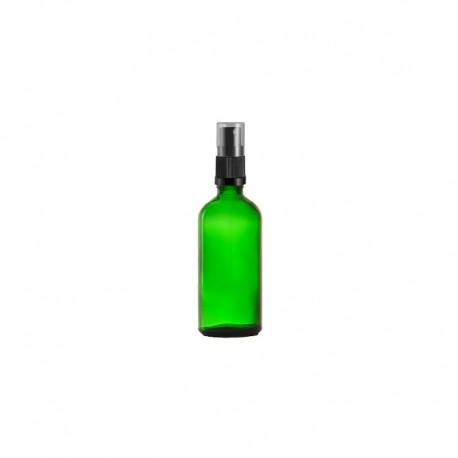 Szklana zielona butelka z atomizerem 100ml