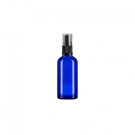 Szklana niebieska butelka z atomizerem 100ml