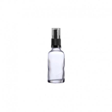 Szklana bezbarwna butelka z atomizerem 30ml