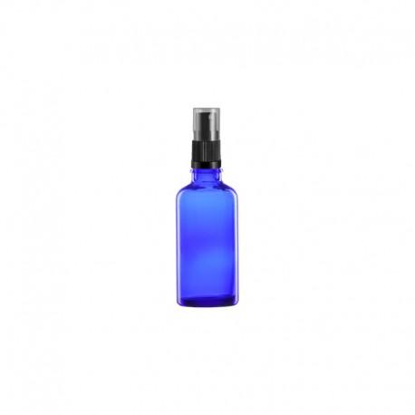 Szklana niebieska butelka z atomizerem 30ml