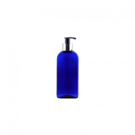 Butelka niebieska PET z pompką OPEN/STOP 150ml