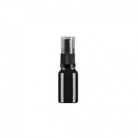 Szklana czarna butelka z atomizerem 10ml