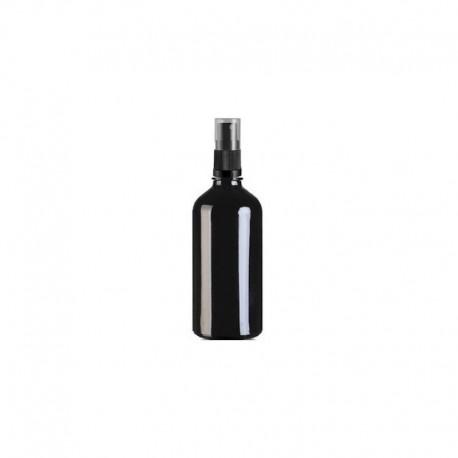 Szklana czarna butelka z atomizerem 100ml