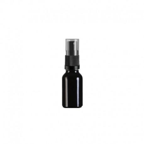 Szklana czarna butelka z atomizerem 30ml