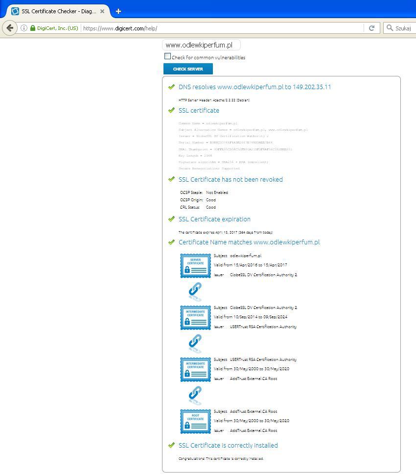 certyfikat ssl checker